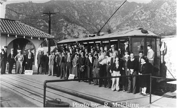 Trolley Car at top of Echo Mtn